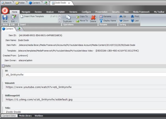 Sitecore Media Framework